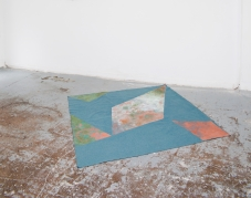 Nui N'dü, 2016, Catarina de Oliveira, pigment on textile, 146x139cm