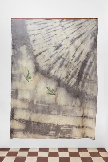 Forest Ghost - Olive Tree, 2018, UV print on hand dyed fabric, copper, 150 x 110 cm