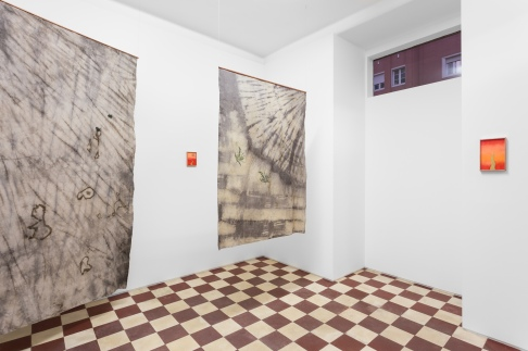 View of the exhibition 'Fire Yearns to Burn' at Monitor Lisbon