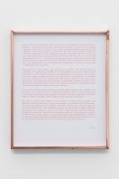 Untiled #1, 2018, inkjet print on paper, copper frame, 25,5 x 21,5 cm